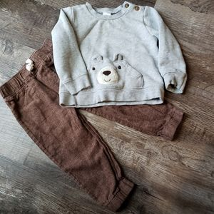 18m Bear Sweatshirt & Pant Set